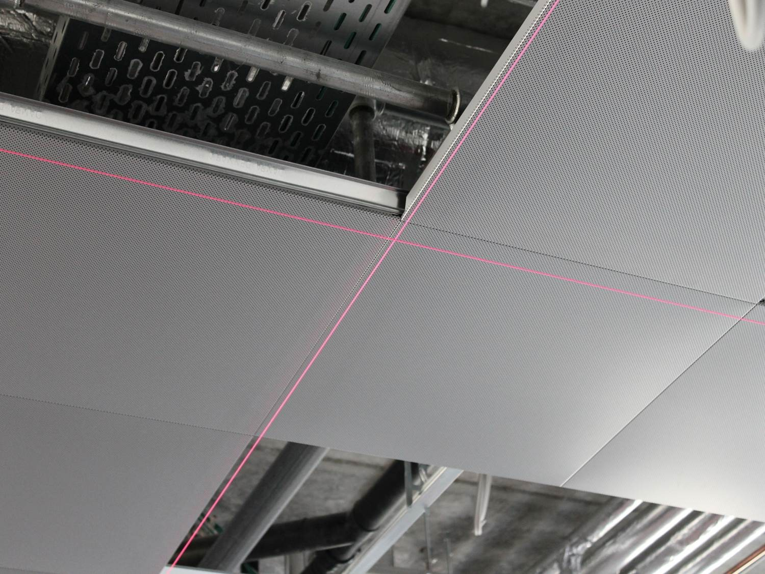 Above ceiling, installation