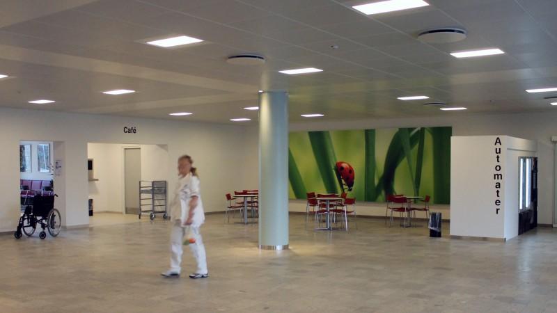 Bispebjerg Hospital, DAMPA Clip-In Tiles, bevelled edge