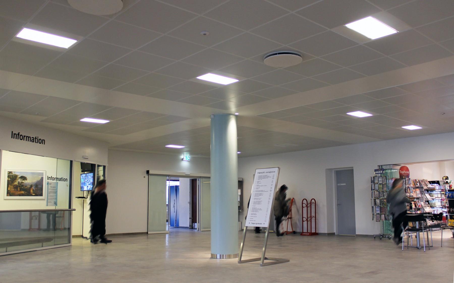 Bispebjerg_hospital - DAMPA Clip-in bevelled edge