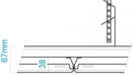 Clip-In Kassette, faset kant