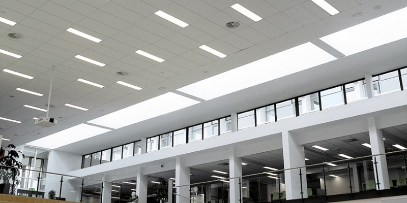 Light fittings at DAMPA metal ceiling solution
