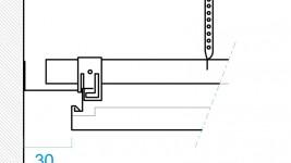Planostile Hook-on Panel, kant detalje
