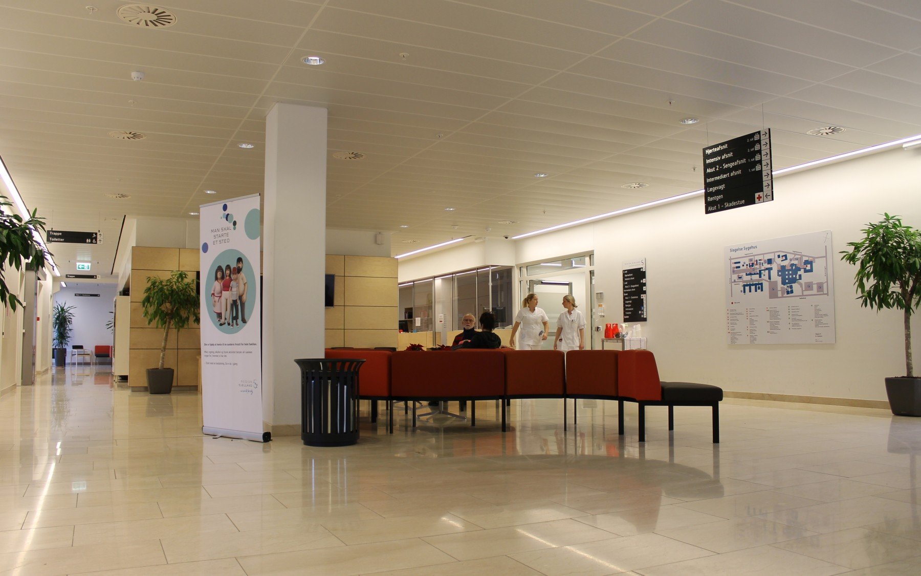 Panel, Hook-On Easy Access at Slagelse hospital, reception