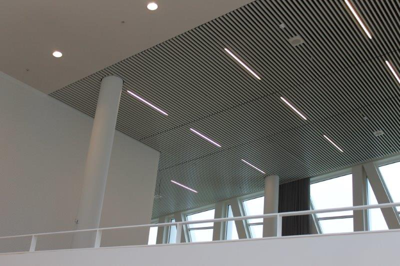 DAMPA panels with light and fire fittings